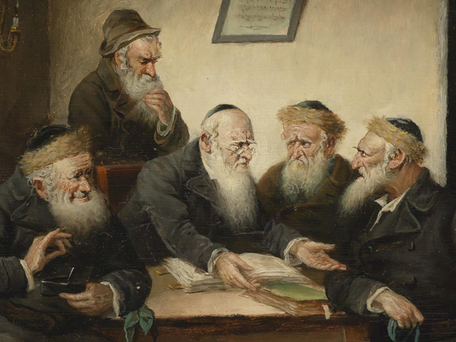 europe rabbis men learning